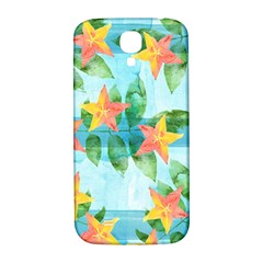 Tropical Starfruit Pattern Samsung Galaxy S4 I9500/i9505  Hardshell Back Case