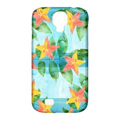Tropical Starfruit Pattern Samsung Galaxy S4 Classic Hardshell Case (pc+silicone)