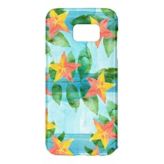 Tropical Starfruit Pattern Samsung Galaxy S7 Edge Hardshell Case