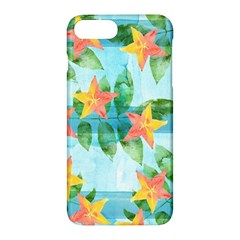Tropical Starfruit Pattern Apple Iphone 7 Plus Hardshell Case