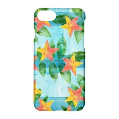 Tropical Starfruit Pattern Apple Iphone 7 Hardshell Case