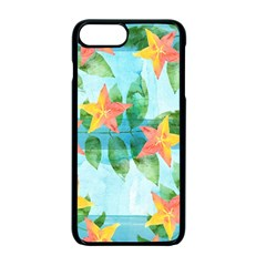 Tropical Starfruit Pattern Apple Iphone 7 Plus Seamless Case (black)