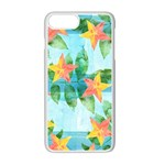 Tropical Starfruit Pattern Apple iPhone 7 Plus White Seamless Case Front
