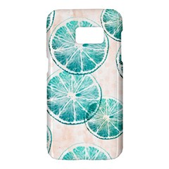 Turquoise Citrus And Dots Samsung Galaxy S7 Hardshell Case
