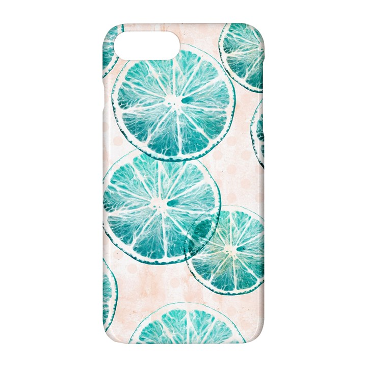 Turquoise Citrus And Dots Apple iPhone 7 Plus Hardshell Case