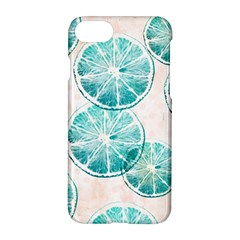 Turquoise Citrus And Dots Apple Iphone 7 Hardshell Case