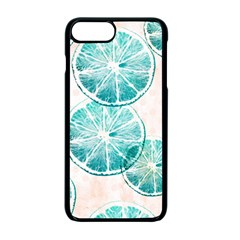 Turquoise Citrus And Dots Apple Iphone 7 Plus Seamless Case (black)