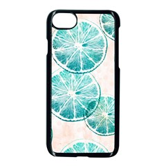Turquoise Citrus And Dots Apple Iphone 7 Seamless Case (black)
