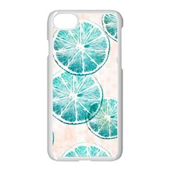 Turquoise Citrus And Dots Apple Iphone 7 Seamless Case (white)