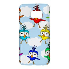 Cute colorful birds  Samsung Galaxy S7 Hardshell Case