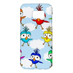 Cute colorful birds  Samsung Galaxy S7 Edge Hardshell Case