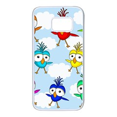 Cute colorful birds  Samsung Galaxy S7 White Seamless Case