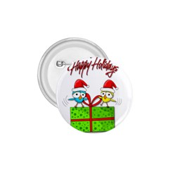 Cute Xmas birds 1.75  Buttons
