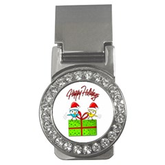 Cute Xmas birds Money Clips (CZ)