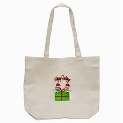 Cute Xmas birds Tote Bag (Cream)