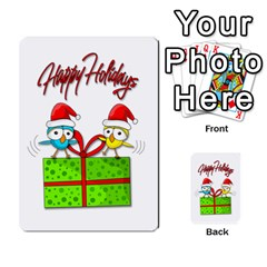 Cute Xmas birds Multi-purpose Cards (Rectangle)