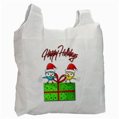 Cute Xmas birds Recycle Bag (Two Side)