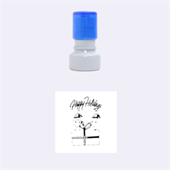 Cute Xmas Birds Rubber Round Stamps (small)