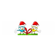 Cute Xmas birds Satin Scarf (Oblong)