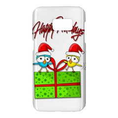 Cute Xmas birds Samsung Galaxy S7 Hardshell Case