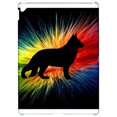 Rainbow Explosion German Shepherd Silo Apple iPad Pro 12.9   Hardshell Case