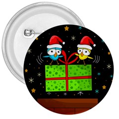 Cute Christmas birds 3  Buttons
