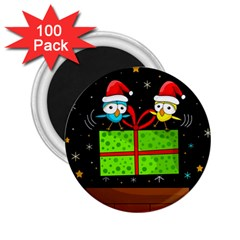 Cute Christmas birds 2.25  Magnets (100 pack)