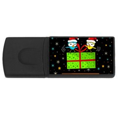 Cute Christmas birds USB Flash Drive Rectangular (2 GB)