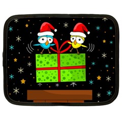 Cute Christmas birds Netbook Case (XL)
