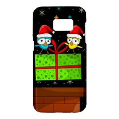 Cute Christmas Birds Samsung Galaxy S7 Hardshell Case