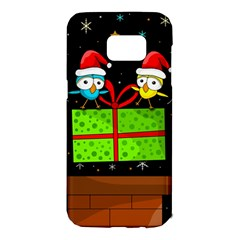 Cute Christmas birds Samsung Galaxy S7 Edge Hardshell Case
