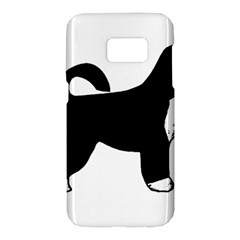 Portugese Water Dog Color Silhouette Samsung Galaxy S7 Hardshell Case