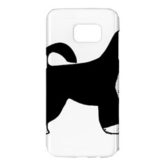 Portugese Water Dog Color Silhouette Samsung Galaxy S7 Edge Hardshell Case