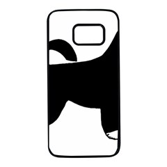 Portugese Water Dog Color Silhouette Samsung Galaxy S7 Black Seamless Case