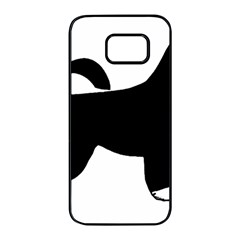 Portugese Water Dog Color Silhouette Samsung Galaxy S7 edge Black Seamless Case