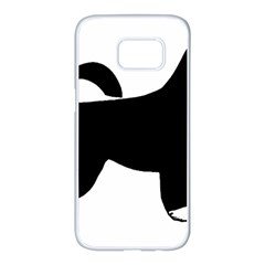 Portugese Water Dog Color Silhouette Samsung Galaxy S7 edge White Seamless Case
