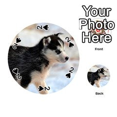 Siberian Husky Puppy Playing Cards 54 (Round)