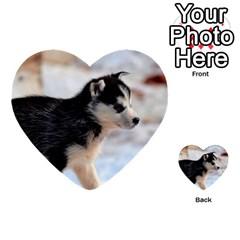 Siberian Husky Puppy Multi-purpose Cards (Heart)