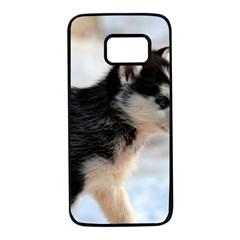 Siberian Husky Puppy Samsung Galaxy S7 Black Seamless Case