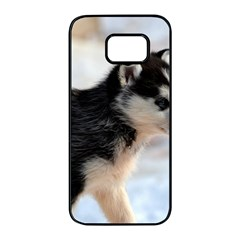 Siberian Husky Puppy Samsung Galaxy S7 edge Black Seamless Case