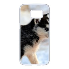 Siberian Husky Puppy Samsung Galaxy S7 edge White Seamless Case