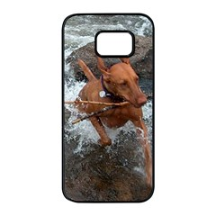Vizsla Fetching In Water Samsung Galaxy S7 edge Black Seamless Case