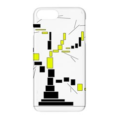 Tree Made From Rectangles Vector Apple iPhone 7 Plus Hardshell Case