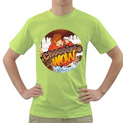 Chocolate Wow Green T Shirt