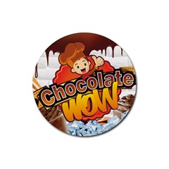 Chocolate Wow Rubber Round Coaster (4 Pack)