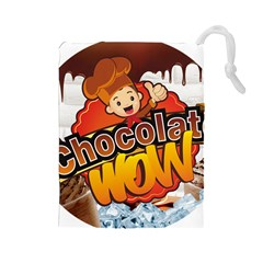 Chocolate Wow Drawstring Pouches (large)