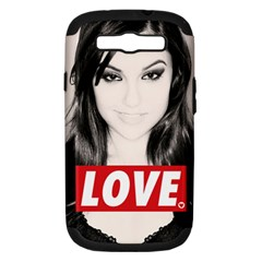 Sasha Grey Love Samsung Galaxy S Iii Hardshell Case (pc+silicone)