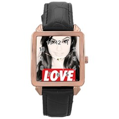 Sasha Grey Love Rose Gold Leather Watch