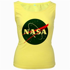 Nasa Logo Women s Yellow Tank Top