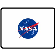 Nasa Logo Double Sided Fleece Blanket (large)